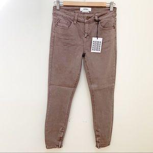 PISTOLA woodrose skinny jeans ankle zipper size 27